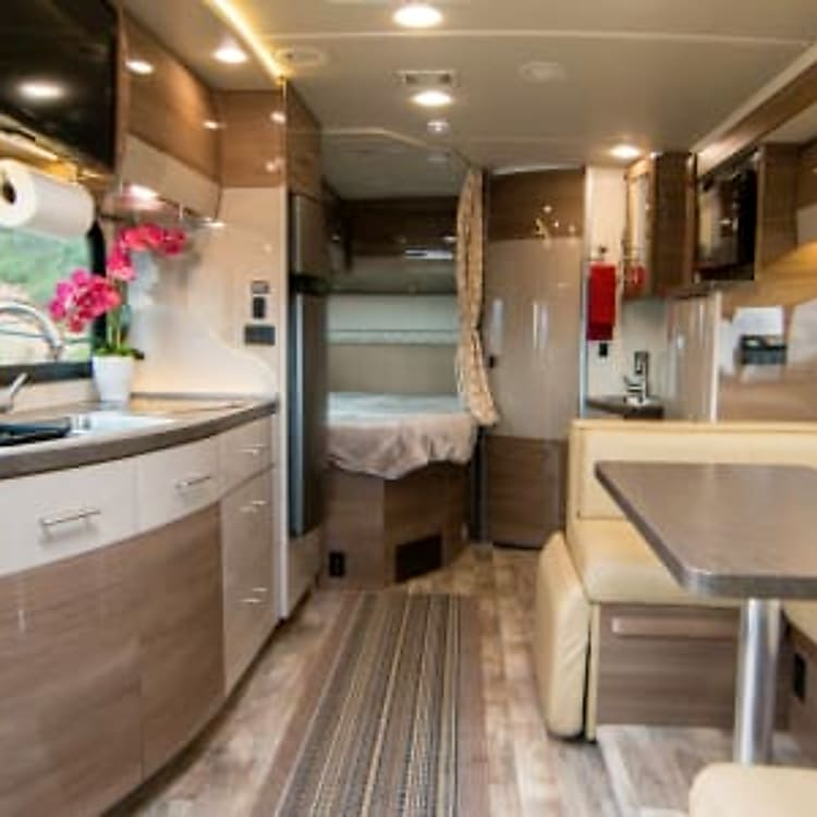 Navion's have a euro styling inside with plenty of floor space for everyone to move around comfortably.