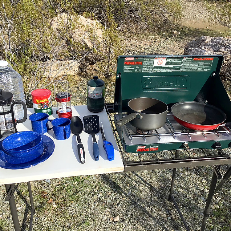 We include all the camping gear you need for your trip!