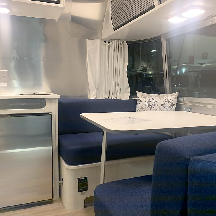 This dinette converts to a full bed.