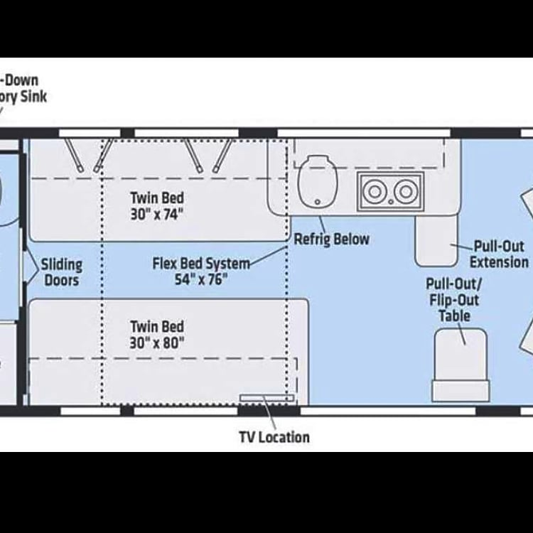 Winnebago Travato 59k floor plan