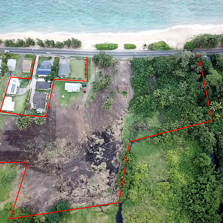 This is our AG property, see the gorgeous sandy beach? We currently have spots to park, outdoor hot shower, and a port-a potty on site. You can park anywhere, the grass, or in between the coconut trees... etc