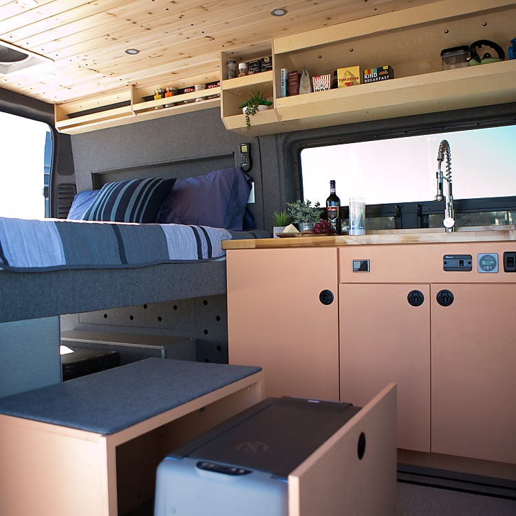 Full kitchenette, portable stovetop, refrigerator and more