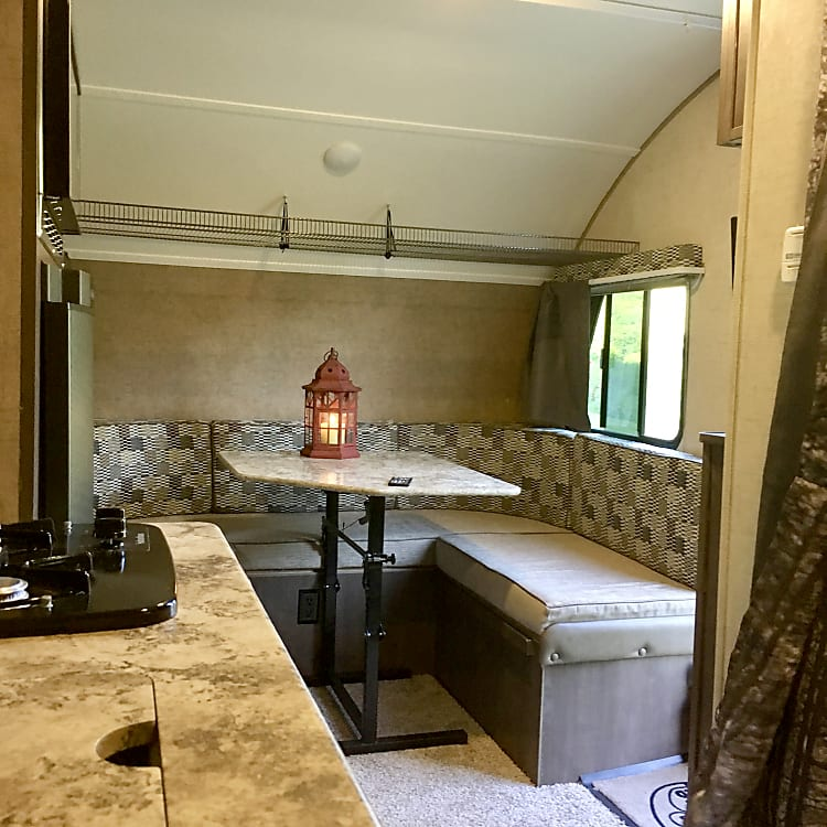 Dinning/full-size bed