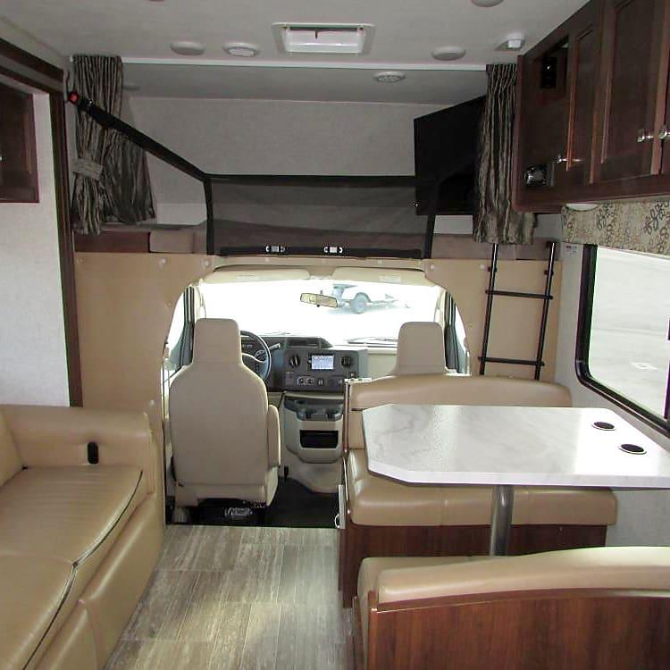 Full-size loft over driver/passenger seats.