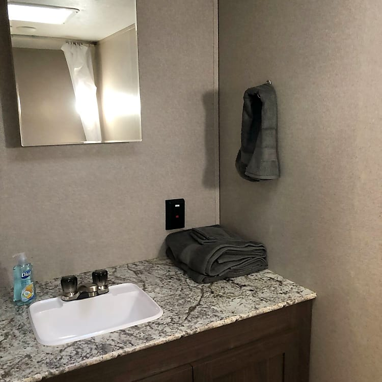 Bathroom Sink with Mirrors