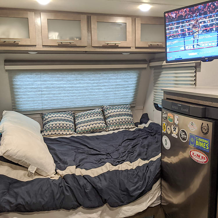 Upgraded Mattress - much better than the foam mattress standard in Camper Trailers! See Review Comments!