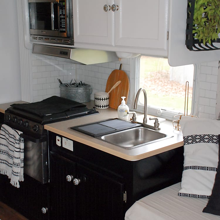 Microwave, stove top, oven