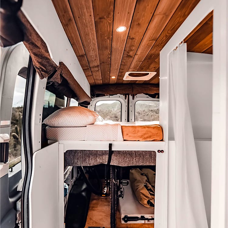 MaxxAir Fan Deluxe keeps the interior comfortable on warm days