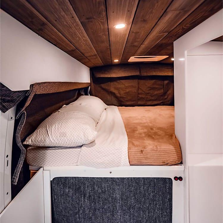 Roll down room darkening curtains ensure a good night's sleep
