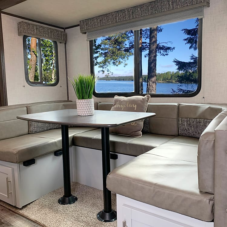 Socialize in the comfortable dinette
