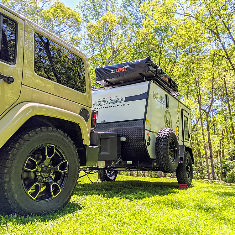 Off-road mud tires enhance the looks and capability of this rig