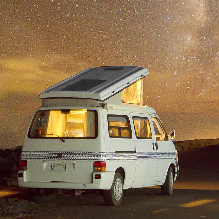 """Watching the Milky Way is a """"must-do"""" in a camper van."""