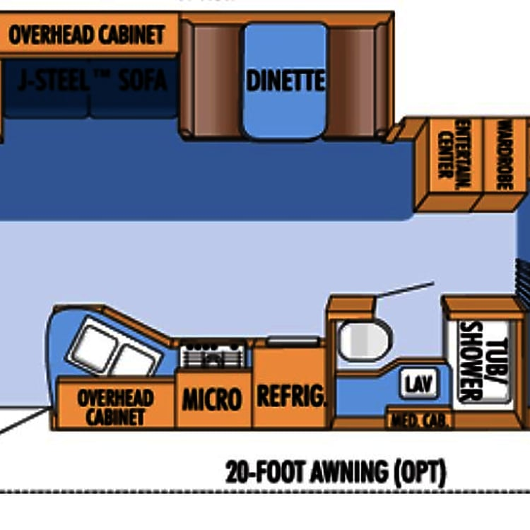 Roomy floorplan with the pushout