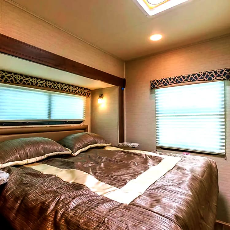 Queen sized bed come with linens