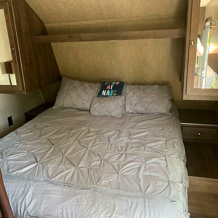 Master Bedroom real queen size mattress