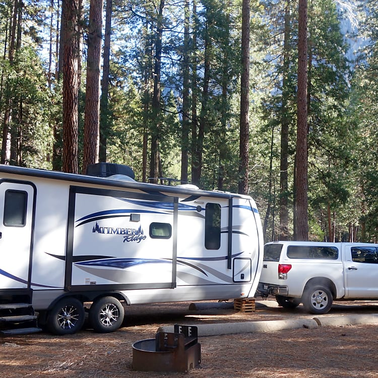 January in Yosemite Upper Pines Campground.