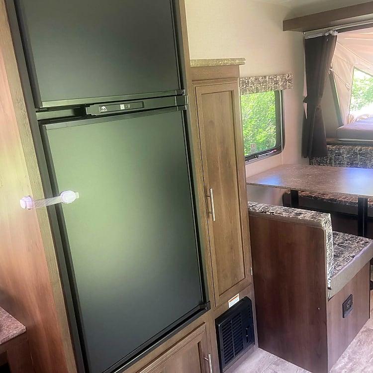 large fridge with separate freezer