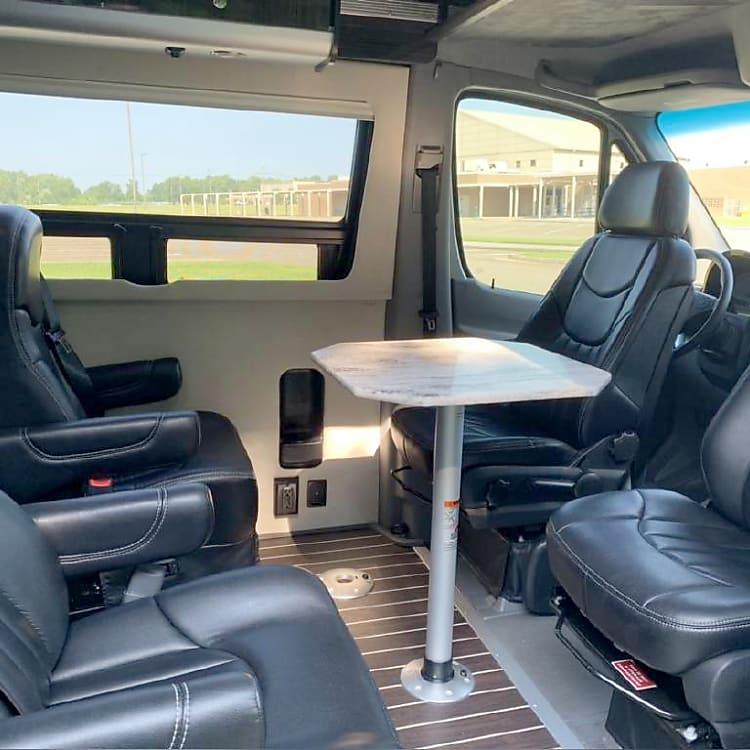 Airstream Luxury ... Captains seating