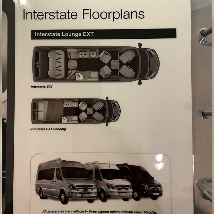 Airstream Luxury ...Bedding floor plan