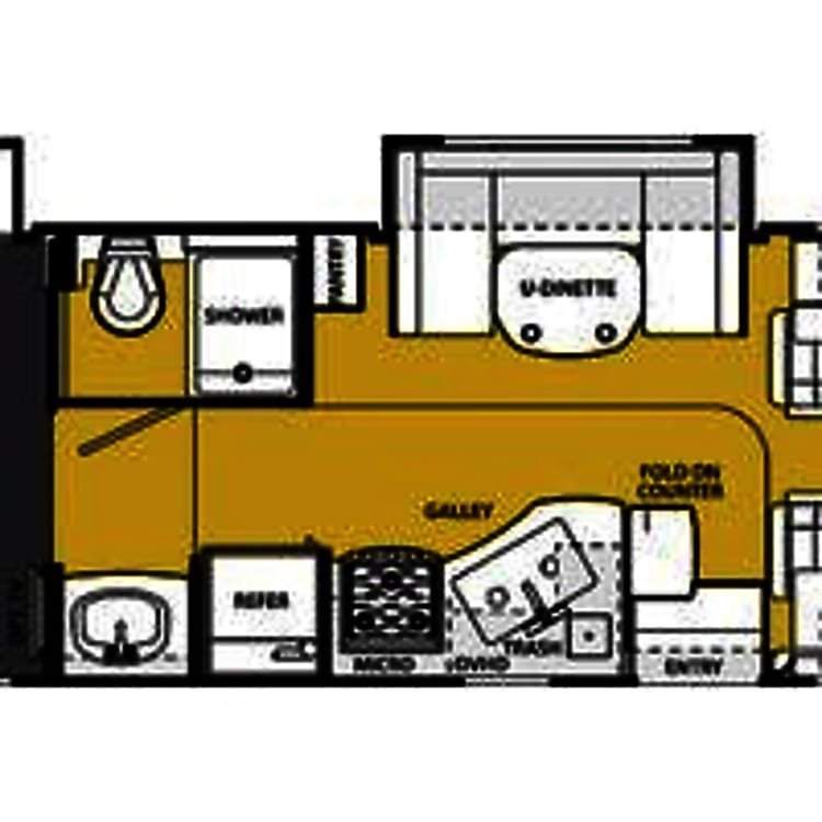 RV - layout of the Forest River Sunseeker