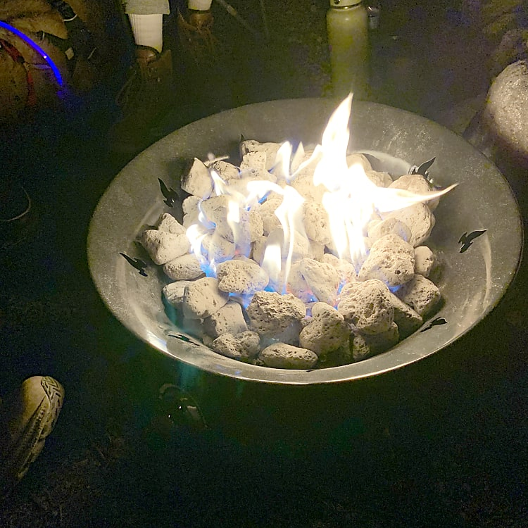 Fire ban in place but still want a cozy campfire? Add on a propane firepit, safe even for Stage 2 fire restrictions in Colorado.