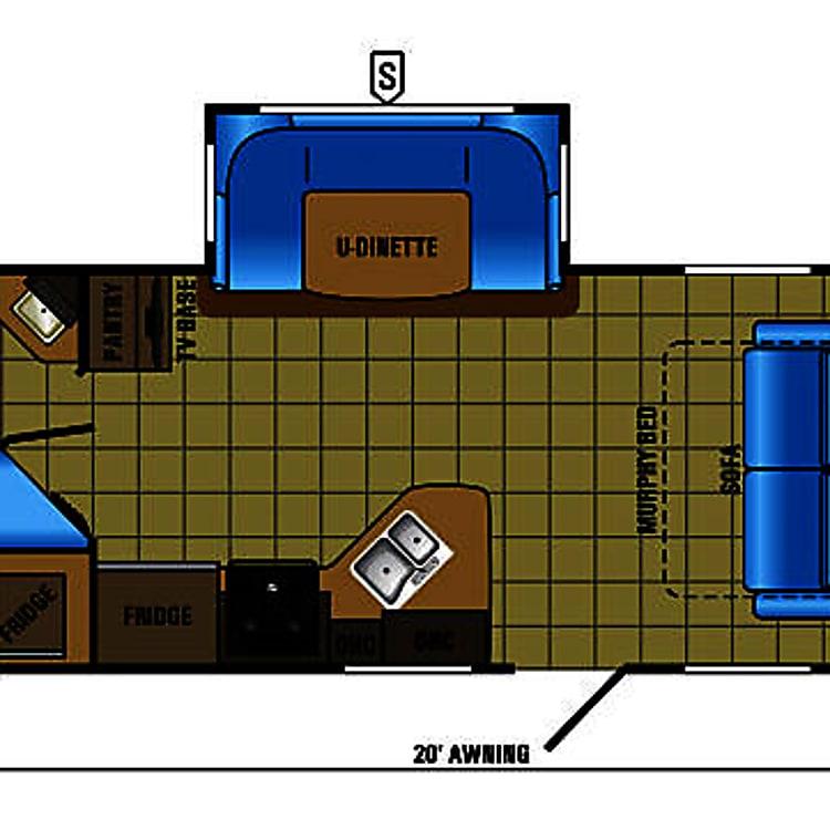 Jayco 24MBH Floorplan