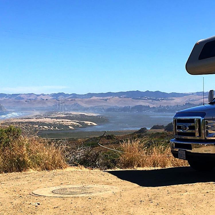 Montaña de Oro State Park, Looking at Morro Bay and Morro Rock