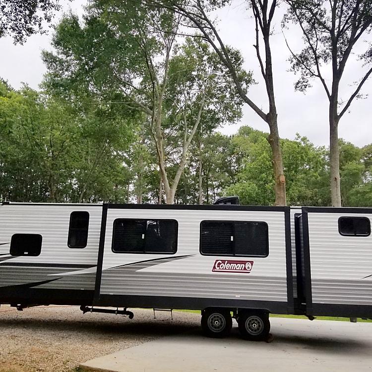 Backside of camper