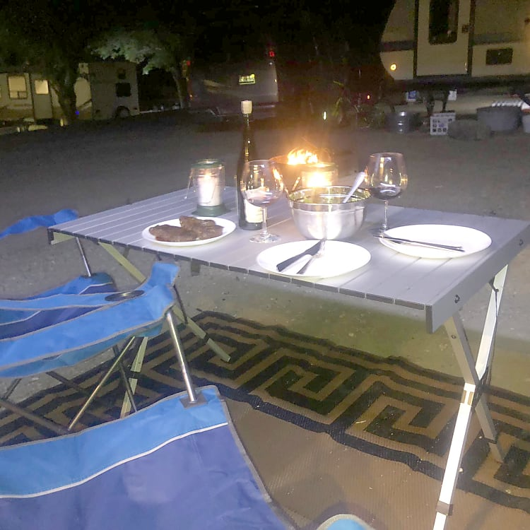Dinner by the campfire, Lake Berryessa