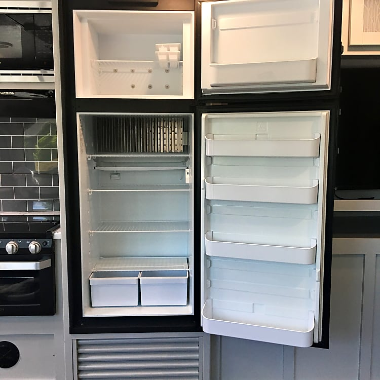 6 cubic feet of fridge and freezer space.