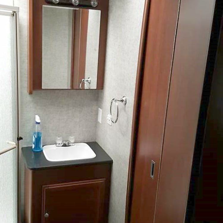 Great private bathroom with shower!