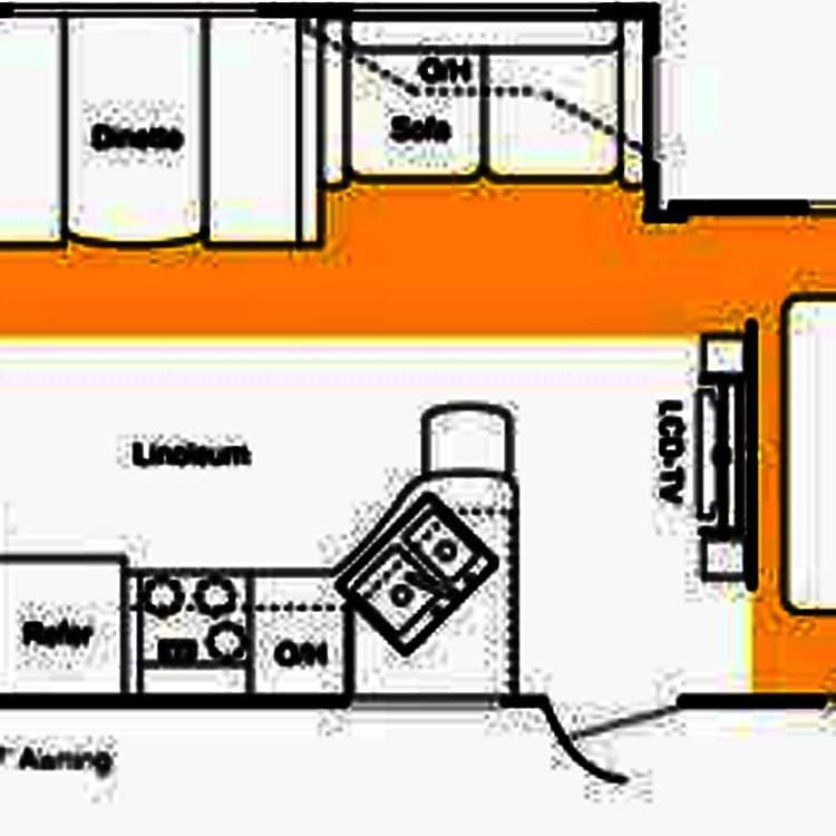 floor plan, bathroom is to left and is partly cut off