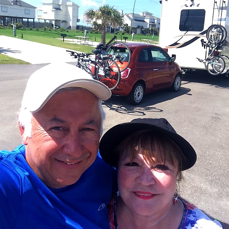 We were pulling our Fiat and 4 bikes!