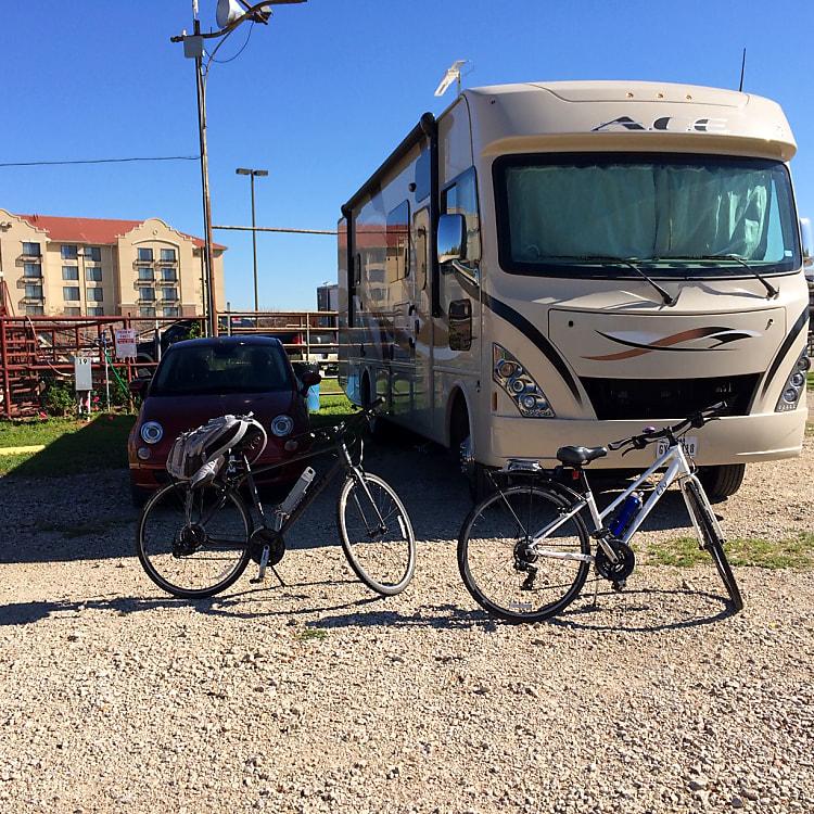 Galveston Island was fun with our 2 bikes!