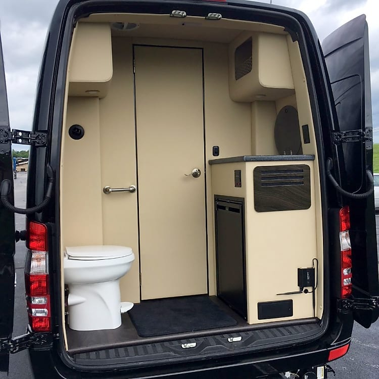 Private bathroom while on the road