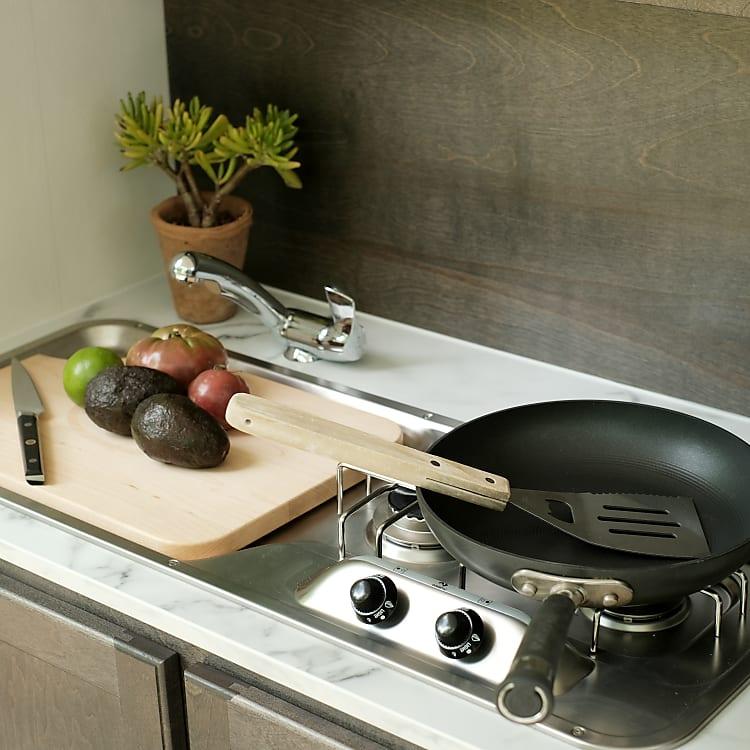 Kitchen - Sink, Cutting Board, 2 Burners Stove