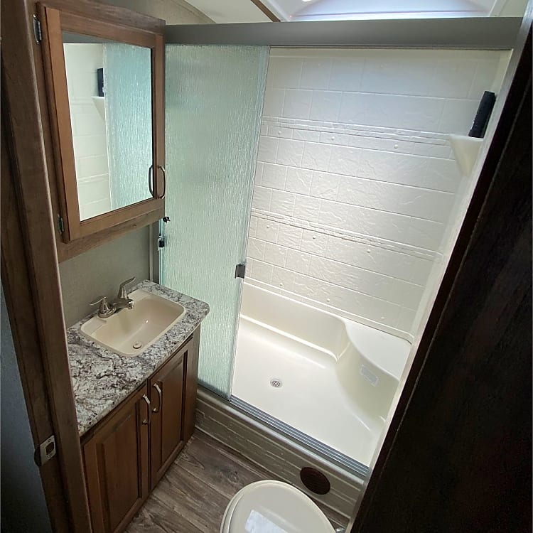 A larger bathroom and shower was a must have in our purchase decision