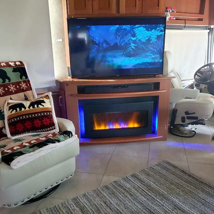 Interior - TV and Fireplace