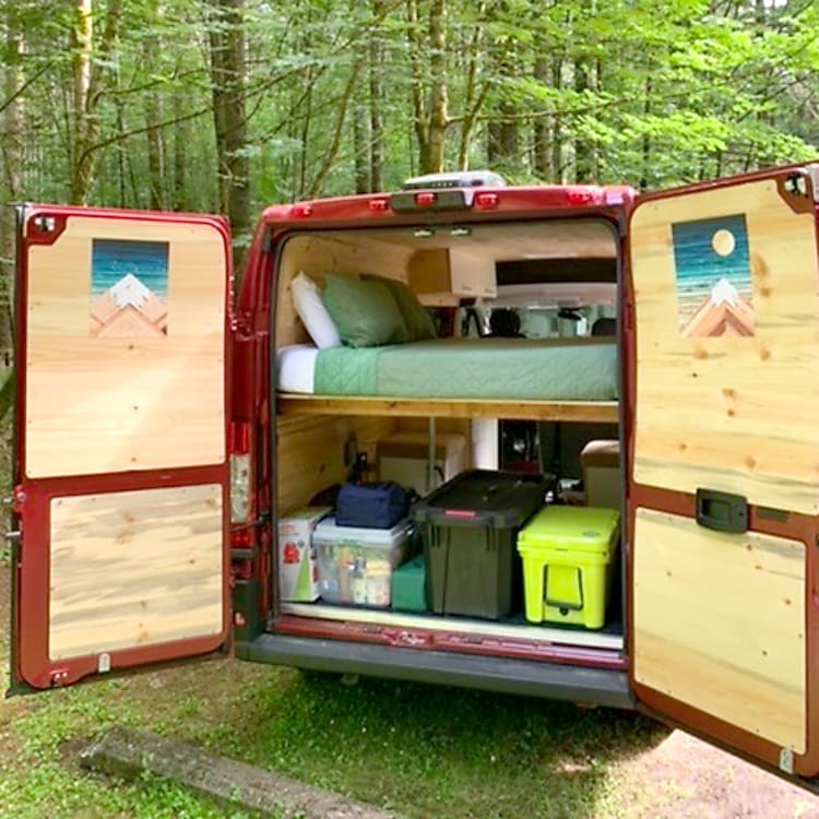 Tons of storage or room for a camp bed to sleep more