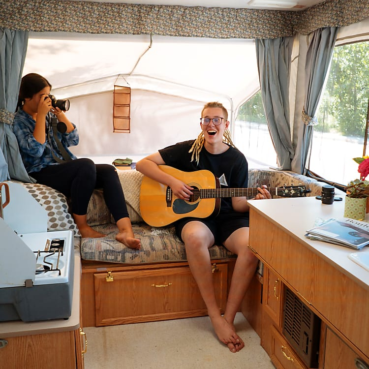 Our daugher Sophia, and our friend Sam.  Sam did these photos for us (and you can hire him to camp with you and photo-journal your trip!)