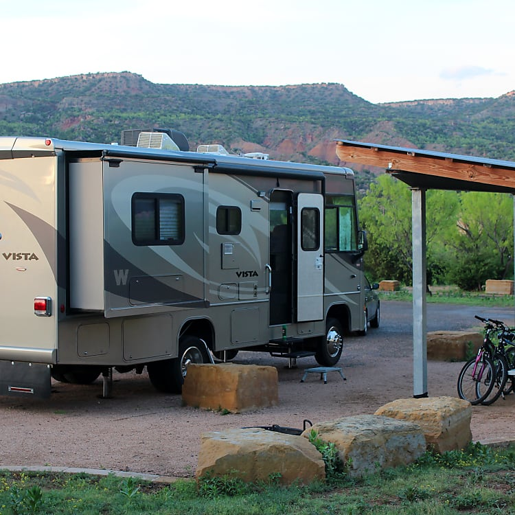 Camping in Palo Duro Canyon, Texas