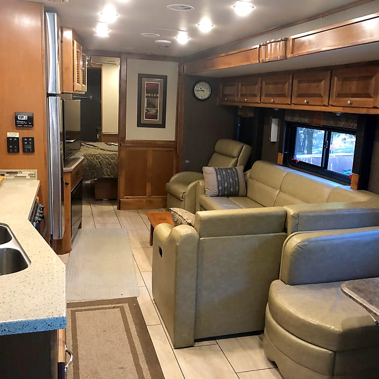 view from front to back of RV