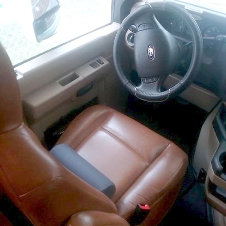 Leather driver's seat