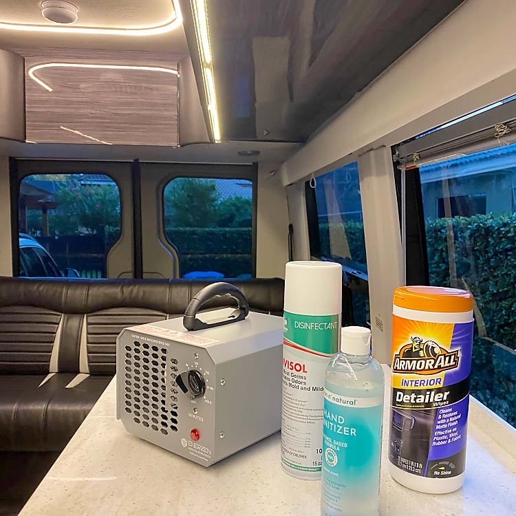 Safety is our top priority. Our van is cleaned, sanitized and protected with a multi-step process,including an ozone air purifier machine.