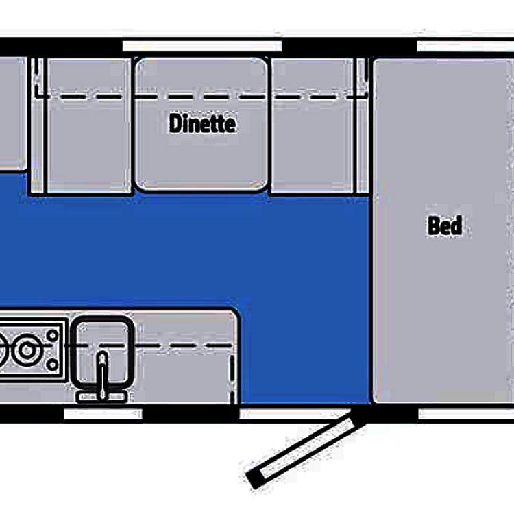 Micro Mini 2019 1700BH Floor Plan