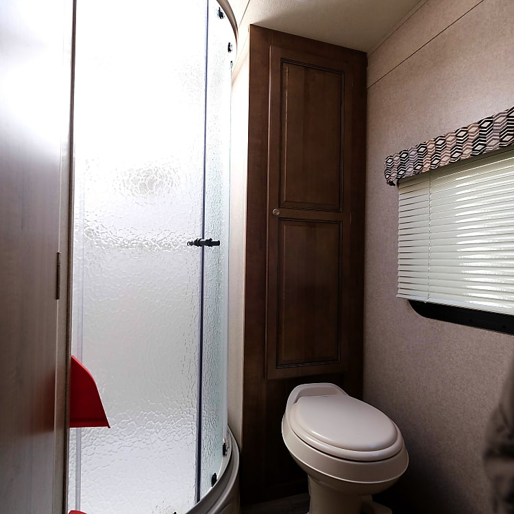 Great bathroom with full size shower