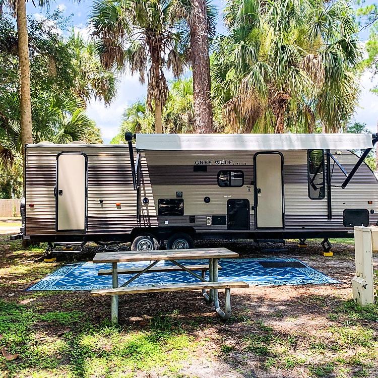 Campsite at Manatee Hammock in Titusville, FL