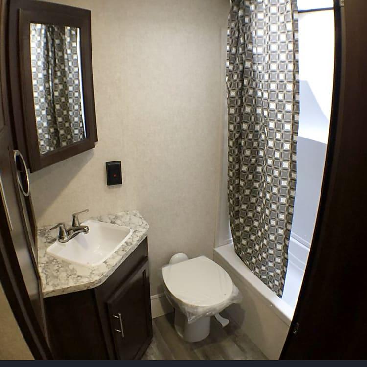 Restroom and shower