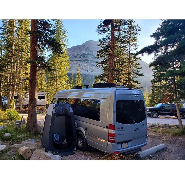 camping at Mirror lake