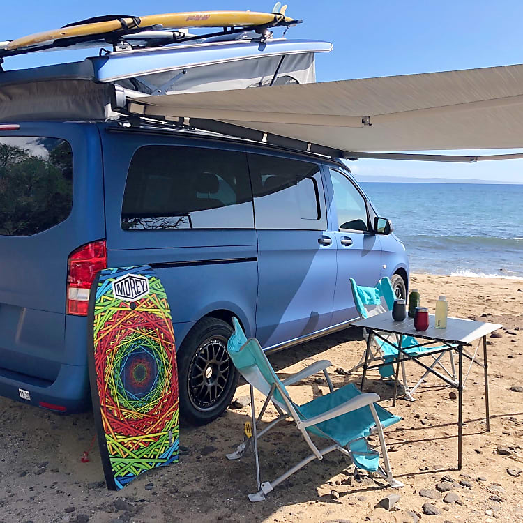 Awning Out with Camping Gear